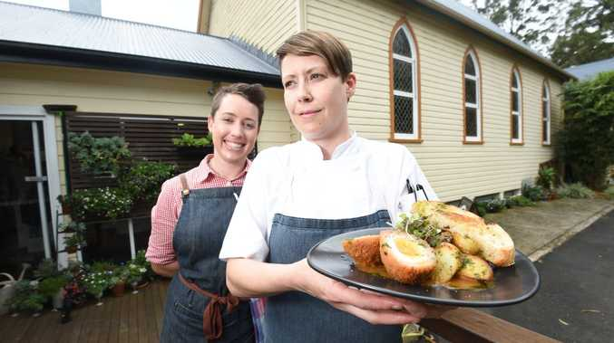 The Spotted Pig co-owners Iohne Simpson and Emily Gray are excited to have won the poll on the best breakfast in the Northern Rivers. Photo Marc Stapelberg / The Northern Star