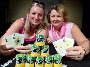 Ladies lay cards down for cancer at Pink Poker event
