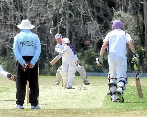 Pottsville's Jayden Hall batting during last year's Pottsville v Tintenbar-East Ballina cricket match. The 2015/16 season kicks off on Saturday. Photo: Nolan Verheij-Full