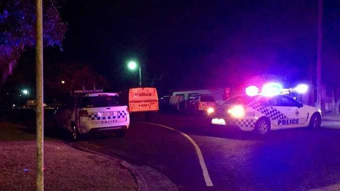 Police have blocked off a street in North Mackay tonight.