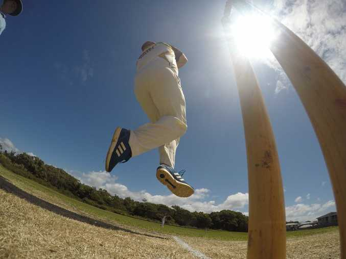 Alstonville bowler Steve Robb during the game against Lennox Head at Meagan Crescent Oval in Lennox Head. Photo Marc Stapelberg / The Northern Star