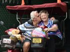 Norm and Audrey Gardner celebrating their 25th wedding anniversary. Norm bought Audrey a mobility scooter. Photo: Alistair Brightman / Fraser Coast Chronicle