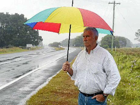 CAMPAIGNER: Bryan Robins at the site of the Cowper Bus Crash Photo Adam Hourigan