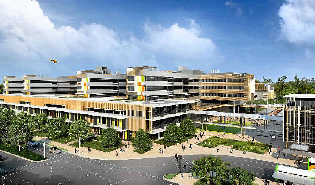 HEALTH HUB: An artist's impression of the Sunshine Coast Public University Hospital and (below) the maternity ward.