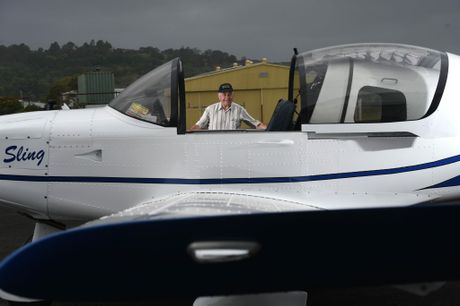 Elio Zambelli spent 850 hours over 12 months putting together the Sling aircraft at the Lismore Aero Club in Lismore.