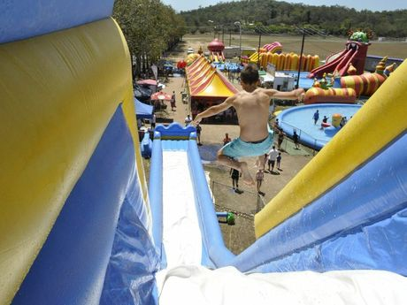 Waterworld's Dino Boy Slide.