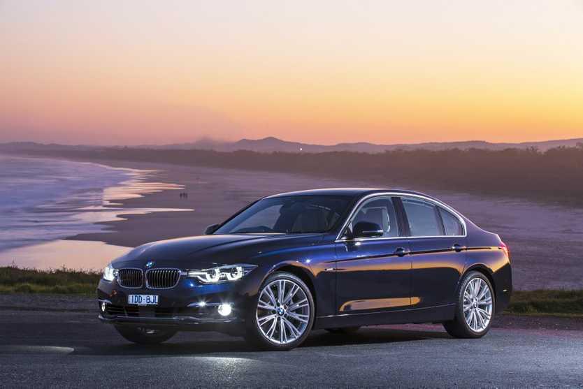 The new BMW 3 Series sedan and wagon. 340i Sedan pictured. Photo: Mark Bean