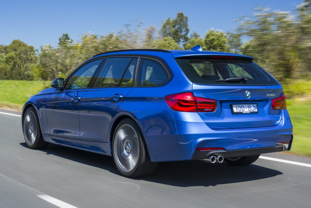HAPPY TOURING: Wagon versions also launched for added practicality in 320i ($65,300) and 330i ($73,300) versions.