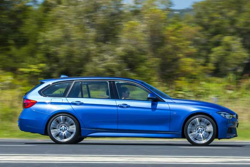 The new BMW 3 Series sedan and wagon. 330i Touring pictured. Photo: Mark Bean