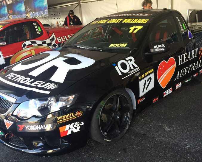BATHURST DREAM: V8 Ute driver Mason Barbera's pride and joy which he drove around Mount Panorama on Sunday.