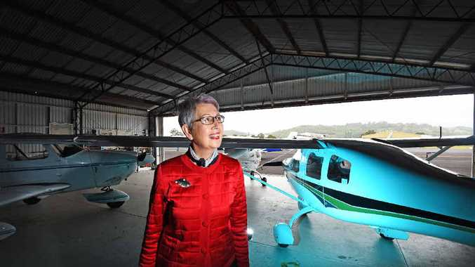 SUPPORT: Lismore mayor Jenny Dowell is proud of the Aero Club which attracts a large number of planes every year.