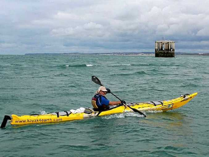 Lismore's Steve Posselt has paddled his kayak across the English Channel to France. Photo Contributed