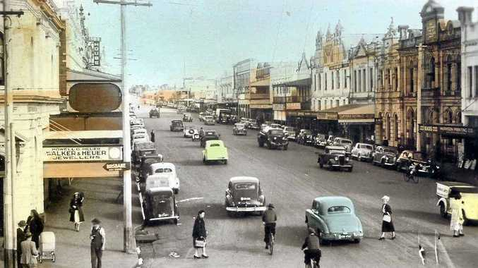 MAIN STREET: Ruthven St in 1939 looks very different to how it does now.