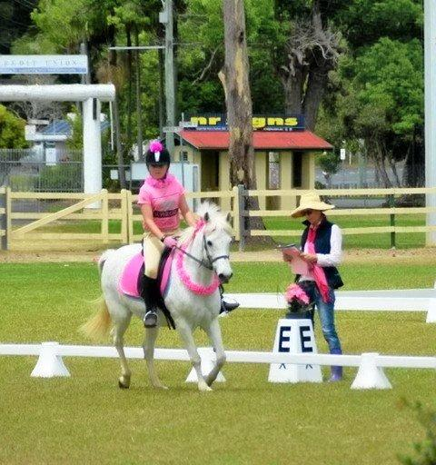 Indy Baker, from Murwillumbah, competes in a junior dressage event.