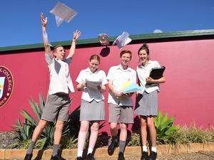 Students tackling HSC