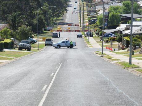 Toowoomba police blocked off the area near Baillie Henderson Hospital.