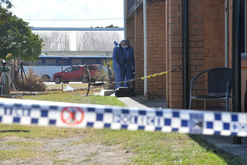 Scene of a murder in North Mackay