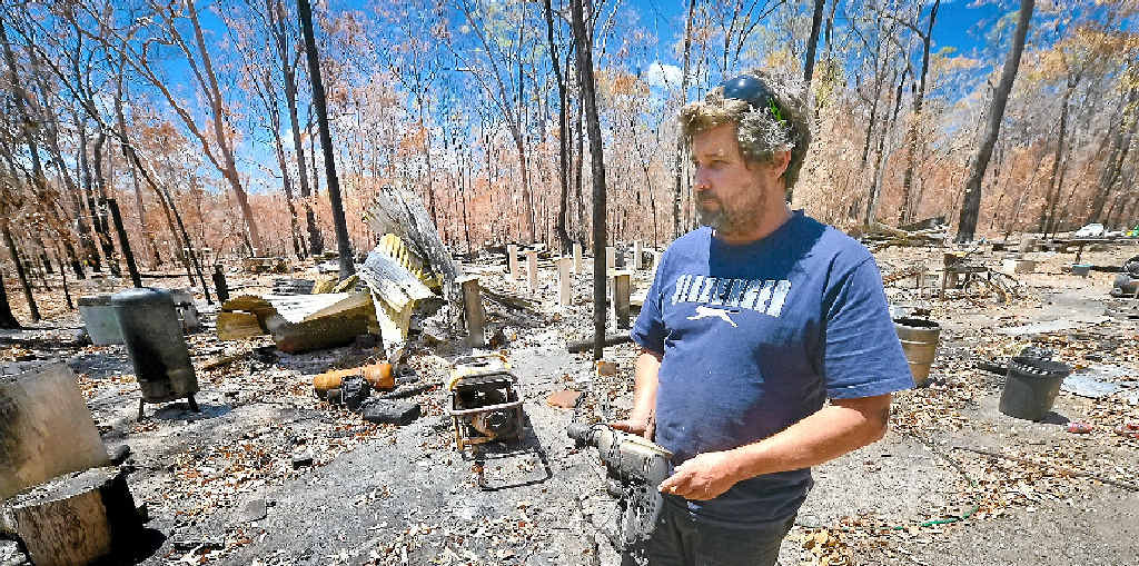 ALL GONE: Lowmead's Rod Sorrenson lost everything in a recent fire.