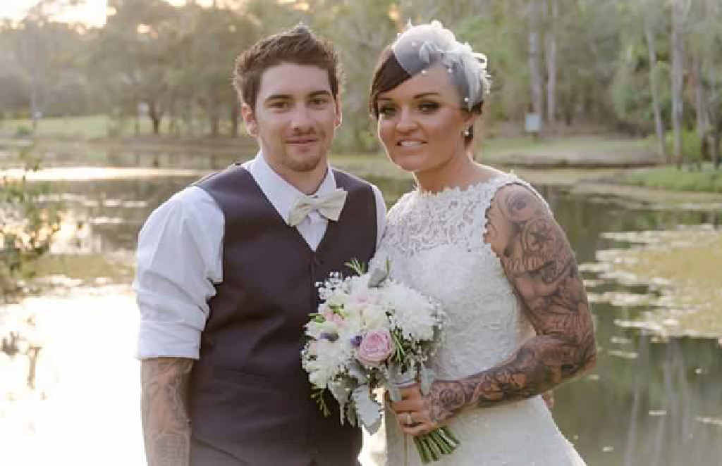 BLESSED TO WED: Renee and Ethan Ward met over six years ago aboard the HMAS Cairns during their careers in the navy and married on Saturday, September 26 at the Tondoon Botanic Gardens.