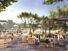 AN artist's impression of the post-Marcia redevelopment showing a proposed water play area.