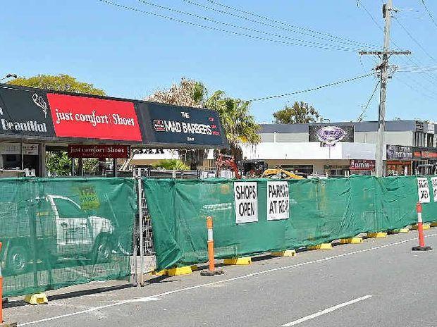 Construction under way on Brisbane Rd.