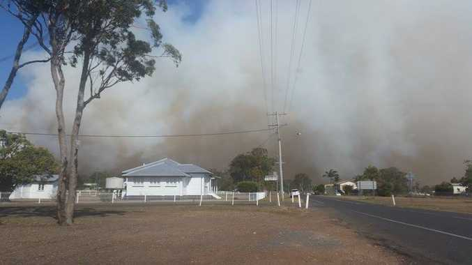 A large smoke haze is affecting the surrounding areas of Burgowan and Torbanlea, particularly along the Bruce Hwy and by the railway line.