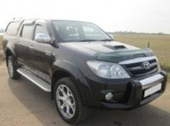A ute similar to Robert Sauer's 2006 black Toyota Hilux dual cab.
