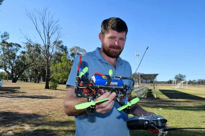 USE WISELY: Roma drone enthusiast Brent Zoellner believes drone users who break official CASA guidelines are ruining the hobby for everyone else. Photo Tom Gillespie / Western Star