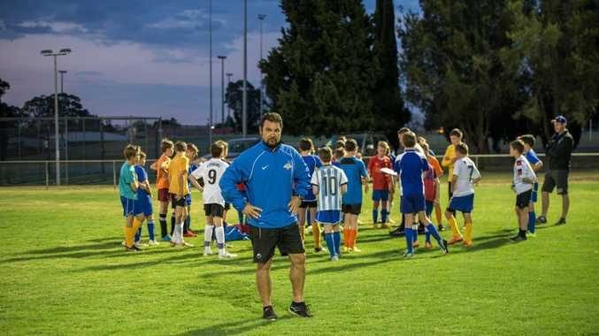 SWIFT START: New South-West Thunder technical director Salvatore Sottile at under 13 boys selection trials.