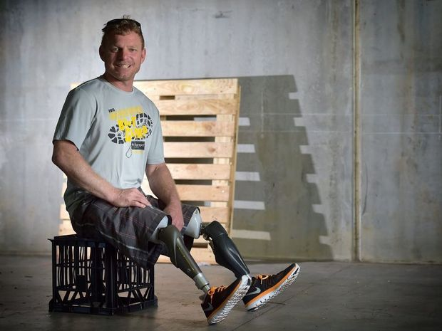SURVIVOR: Naturally gifted athlete Jason Sauer who grew up on the Coast is home visiting friends. Photo: Warren Lynam / Sunshine Coast Daily