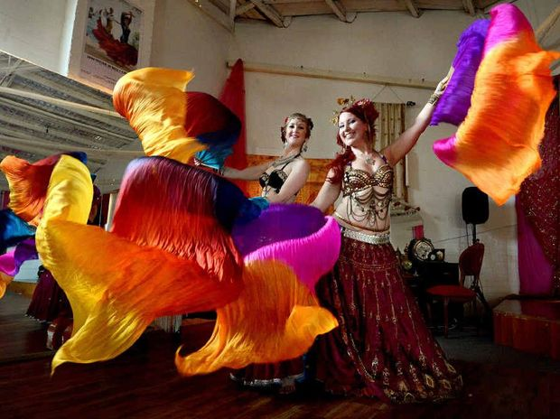 READY TO GROOVE: Stacey Walker and Sasha Fox from the Barefoot Gypsies are looking forward to Gypsy Nights at their studio in Carrington St, Lismore, this weekend.