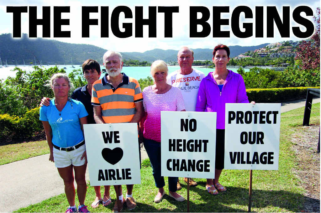 UNITED: Veronica Walter, Colleen Dodds, Nigel Pemberton, Therese Saad, Roger Down and Michelle Lynes have banded together in the Fight for Airlie group.