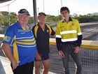 FIELD UPGRADE: Yeppoon Seagulls Rugby League president David Hiscox, vice president Steve Stafford and JRT project manager Robert Thomasson at Webb Park which is getting a resurfacing to improve the field for years to come.