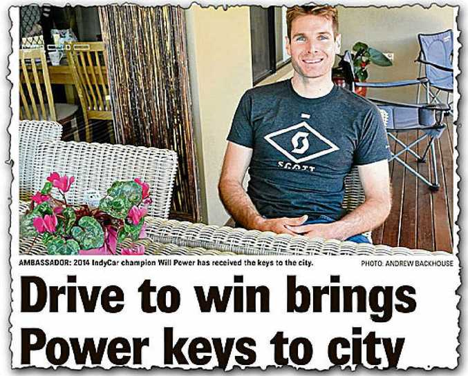 DESERVING: Our story on Will Power receiving the keys to Toowoomba.