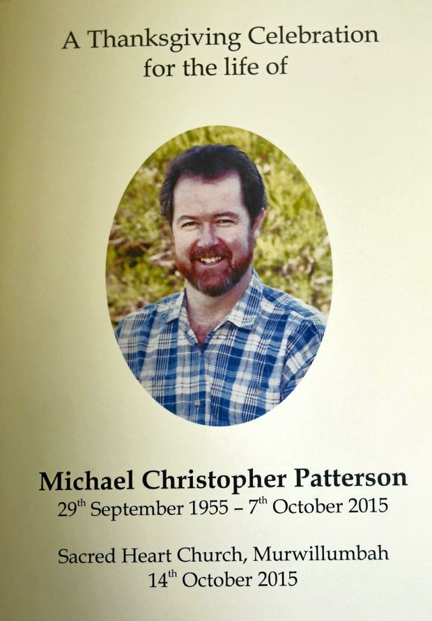 Michael Patterson's life was remembered in a touching service.