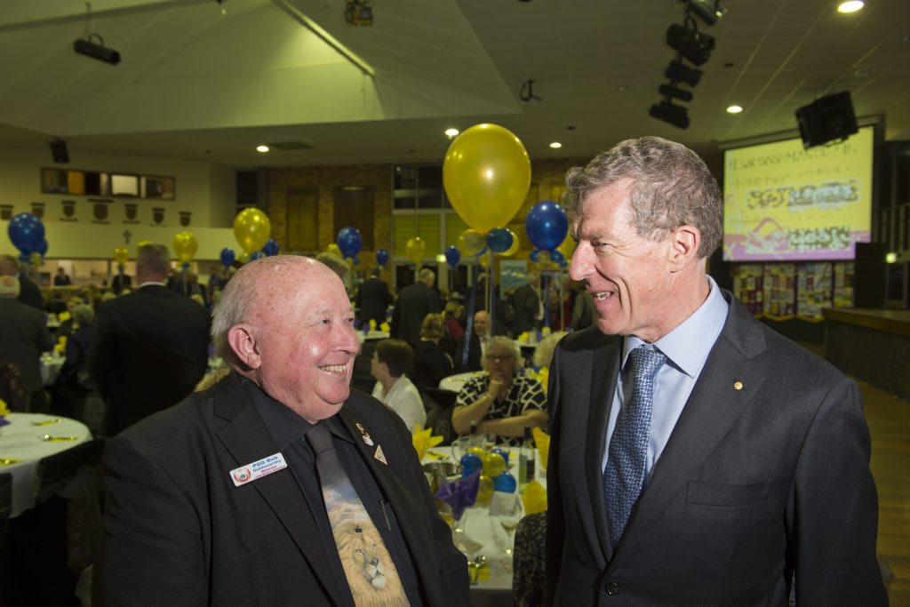 Image for sale: Lions Medical Research director (Q3) Bob Goldsworthy (left) chats with guest speaker and 2006 Australian of the Year Professor Ian Frazer