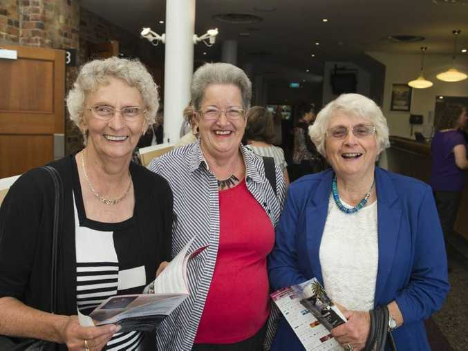 Excited for the performance are (from left) Helen Watts, Anna Duncombe and Pam Eather of Kingaroy