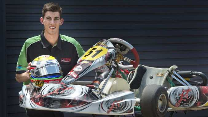 Maxim Erickson completes his preparations this week for his debut at the Race of Stars Gold Coast V8 Superfest kart event this weekend.