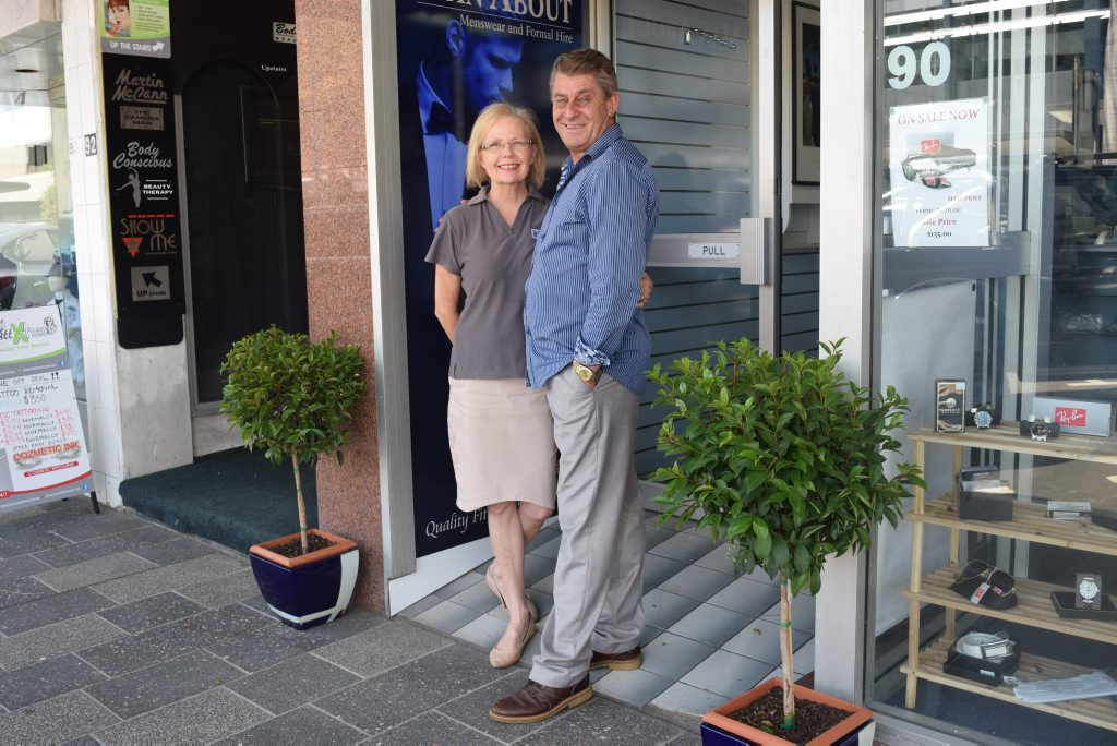 New owners David and Julie Seymour of Man About Menswear and Formal Hire.