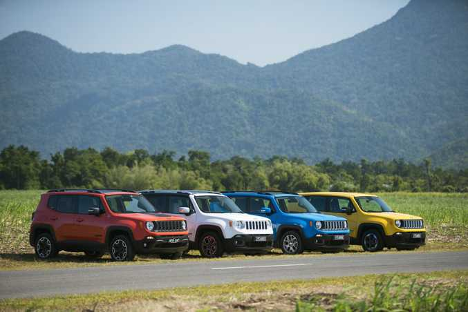 LONG RANGE: Lineup is the Sport, Longitude, Limited and 4x4 Trailhawk, costing from $29.500 to $41,500. Funky colours are required.