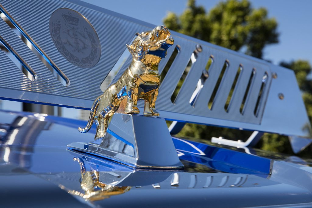 A gold tiger adorns the front of he truck, where the Mack Bulldog would usually sit. Photo Contributed