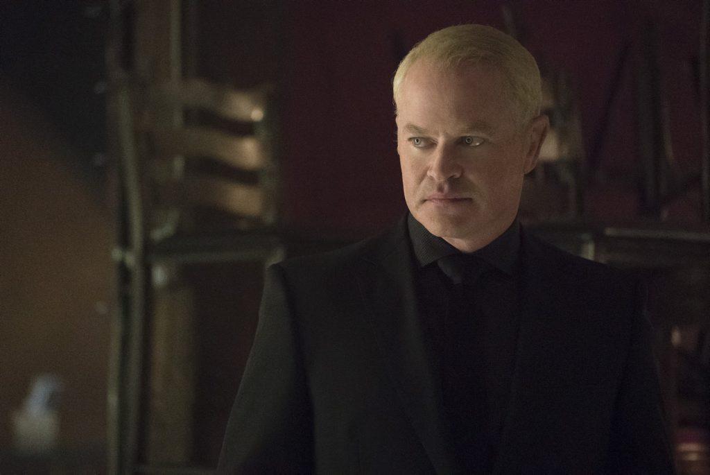 Neal McDonough as Damien Darhk in Arrow (Season 4, ep. 2