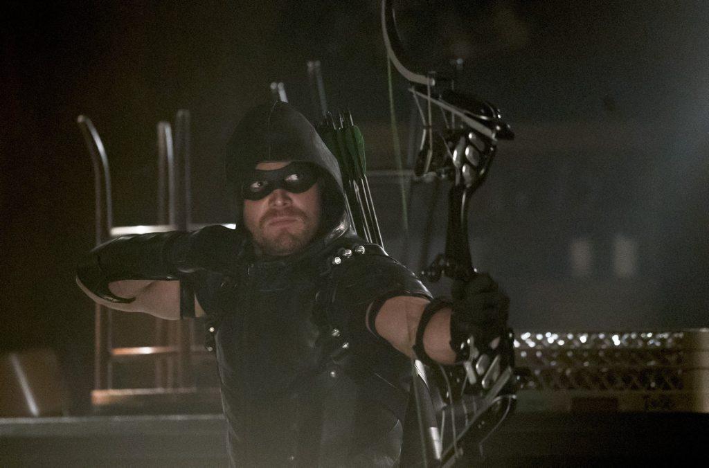 Stephen Amell as The Arrow in Arrow (Season 4, ep. 2