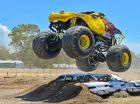 Carnage in Gladstone with monster trucks, demolition derby