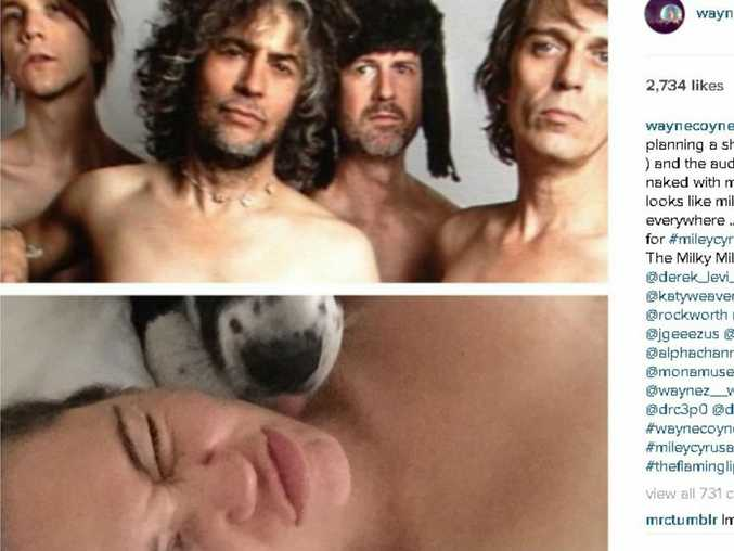 The Flaming Lips and Miley Cyrus (Instagram)
