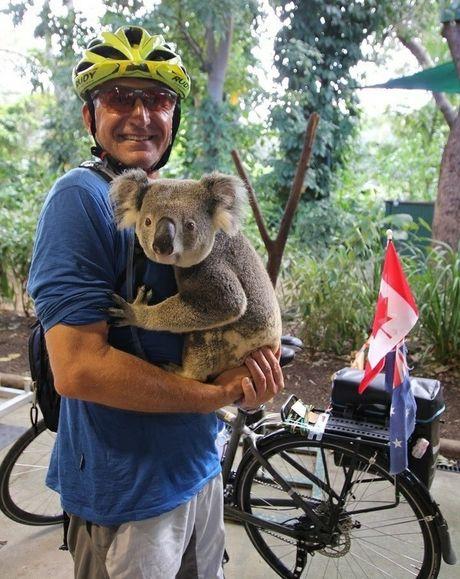 Rudy Pospisil with a little Aussie friend.