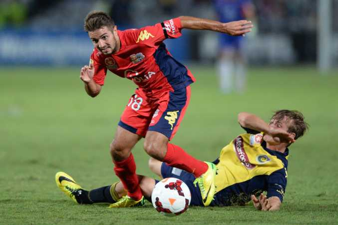 Michael Zullo in action for one of his old teams, Adelaide United