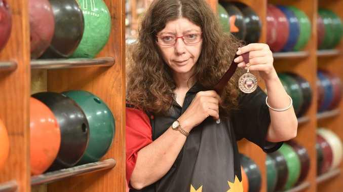 Ten pin bowler Helen Pelling. Photo: Alistair Brightman / Fraser Coast Chronicle