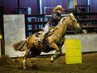 Christy Jasperson in the Barrel Race. Photo Allan Reinikka / The Morning Bulletin