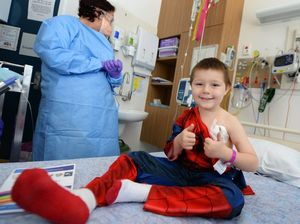 Brave little Ben first to complete chemo in new cancer unit